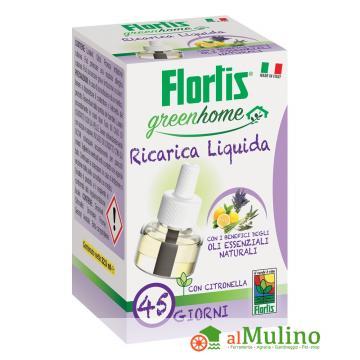 - FLORTIS ZANZARE RICARICA 22.5ML  GREENHOME 45 GIORNI